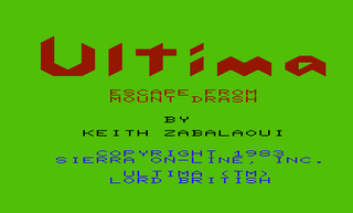 Ultima: Escape from Mount Drash (Vic-20)